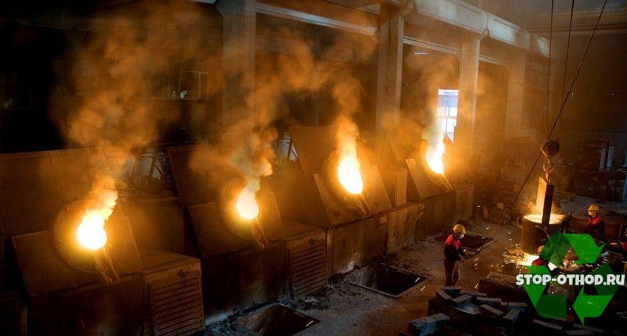 Сжигание мусора на заводе