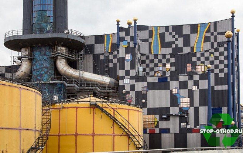 Завод по сжиганию мусора в Вене