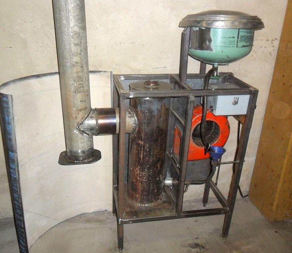 печь на отработанном масле устройство