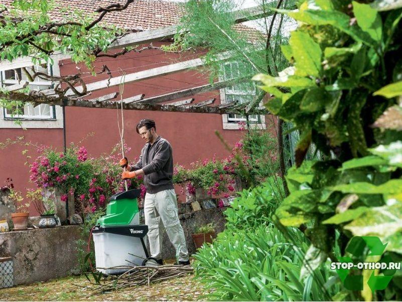 садовый измельчитель viking-ge140l-3