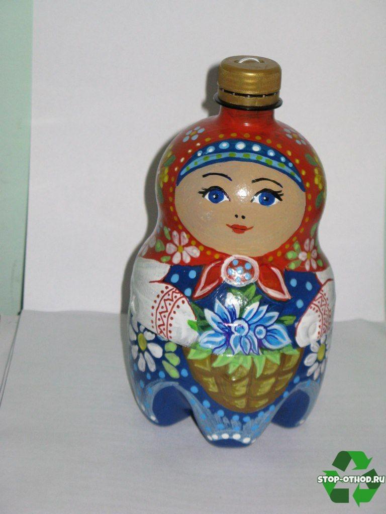 Матрешка из бутылки
