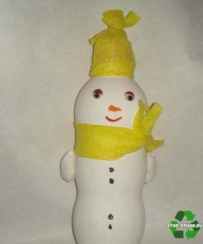 Снеговик из мусора