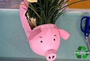 Свинка-горшок