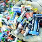 использованные батарейки