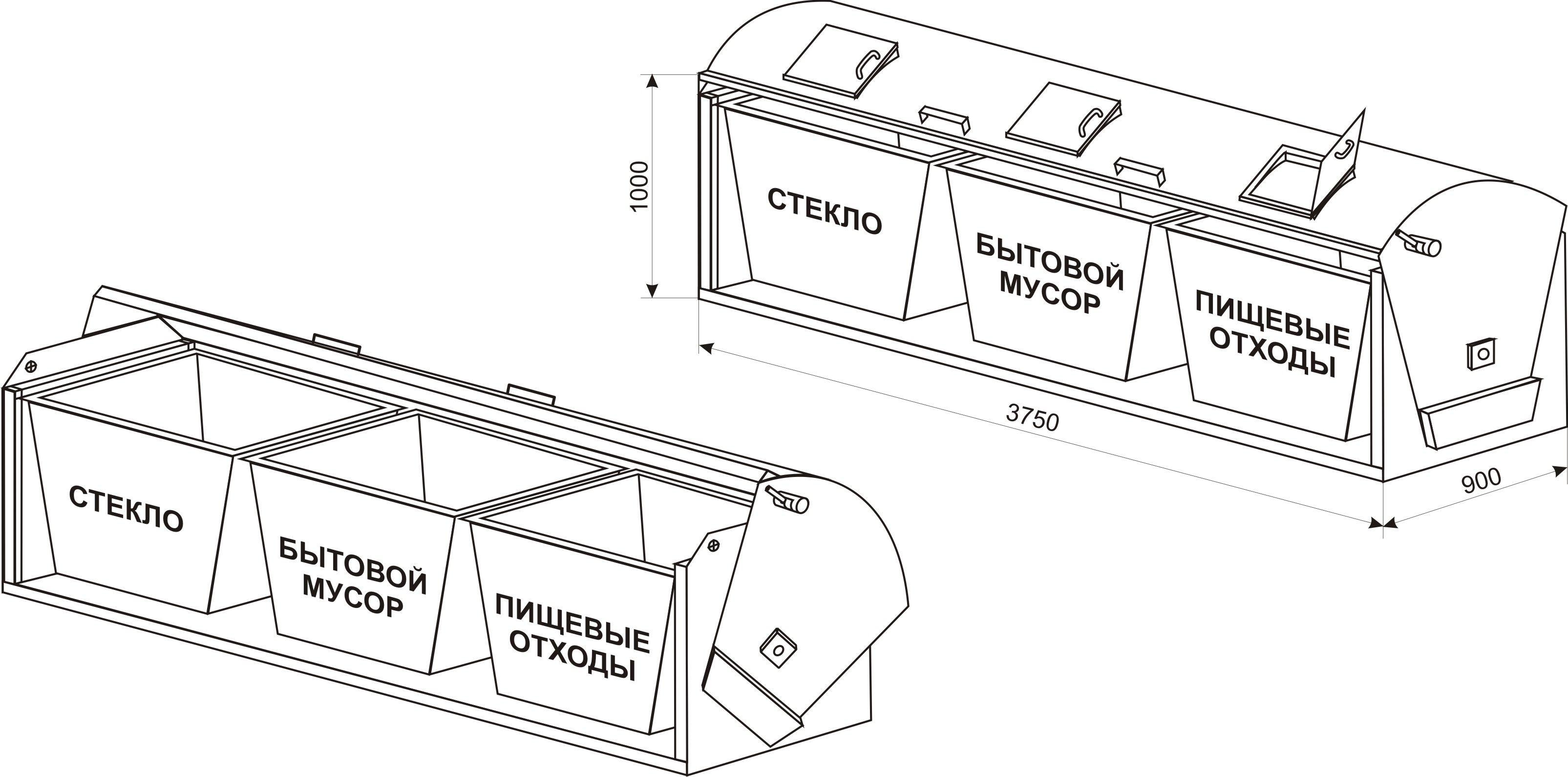 Тип контейнерной площадки для сбора тбо