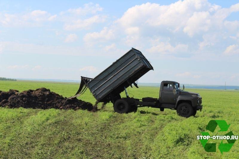 Вывоз навоза и помета в поля
