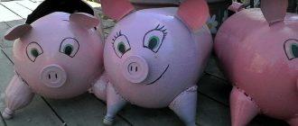 свиньи из бутылок
