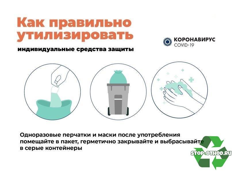 Об утилизации масок и перчаток в домашних условиях